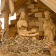 Nativity Scene, wooden figures — Stock Photo