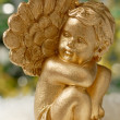 Golden angel figure — Stock Photo