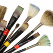 Royalty-Free Stock Photo: Artist\'s used brushes