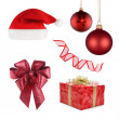 Christmas set of different objects — Stock Photo