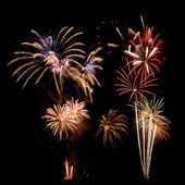 Multi-colored firework display — Stock Photo