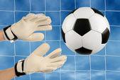 Soccer goalie — Stock Photo