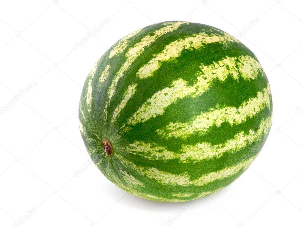 Melon d 39 eau parfaite sur fond blanc photographie smileus 4305388 - Calories pasteque entiere ...