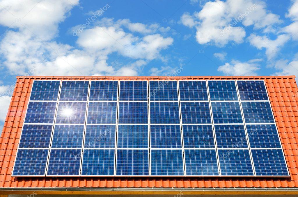 Solar Panel On A Roof Stock Photo 169 Smileus 4305475