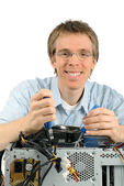 Friendly support technician — Stock Photo