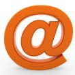 3d email symbol orange - Stock Photo