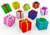 3d πολύχρωμο δώρο πλαίσιο — Φωτογραφία Αρχείου