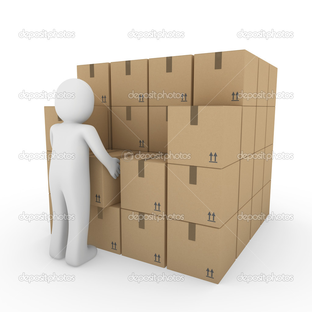 3d human carton package shipping stock photo © dariusl 4896211 3d human carton package shipping stock image