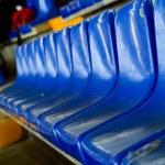 Dark blue rows of seats — Stock Photo #4223633
