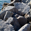 Stock Photo: Rocks and blue