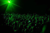 Fan at concert — Stock Photo