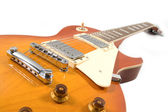 Blues orange guitar — Stock Photo