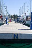 Boote an der pier — Stockfoto