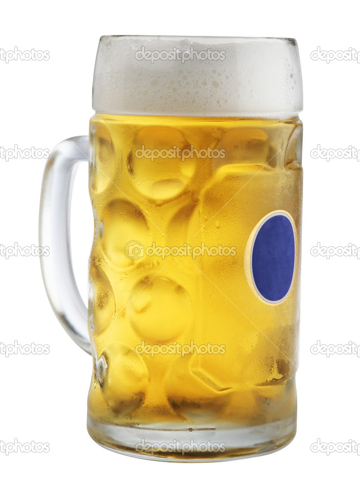 Mug with beer isolated on white   Stock Photo #4220341