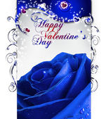 Blue san valentino — Stock Photo
