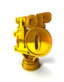 TOP 10 award — Stock Photo