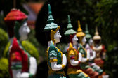 Deva in traditional Thai style decoration — Stock Photo