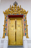 Arch Gold Door in Temple — Stock Photo
