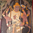 Art thai painting on wall in temple - Foto de Stock