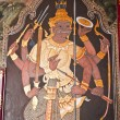 Art thai painting on wall in temple - Foto Stock