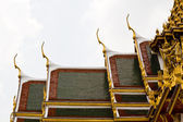 Gable apex on roof in Grand Palace Bangkok Thailand — Stock Photo