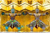 Giant stand around pagoda of thailand — Stok fotoğraf