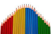 Pencils on White Background — Stock Photo