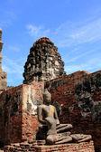 Buddha Image in Pagoda Lopburi of Thailand — Stock Photo
