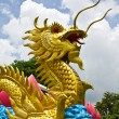 Golden dragon statue — Photo