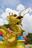 Golden dragon statue — Stock Photo