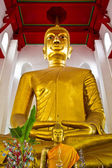 Big buddha image in temple Thailand — Stock Photo
