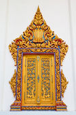 Traditional Thai style window in temple Thailand — Stock Photo