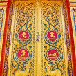 Traditional Thai style door in temple Thailand — Stock Photo