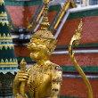 Golden Statue, A kind of mythological soldier, Landmark of Bangk — Stock Photo