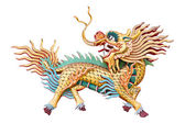Chinese unicorn on white background — Stock Photo