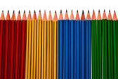 Pencils Isolated on White Background — Stock Photo