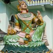Stock Photo: Devstatue in myanmar style molding art in temple