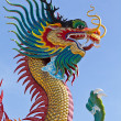 Stock Photo: Many big dragons are color , a city is Nakolsawun, Thailand