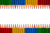 Crayons sur fond blanc — Photo
