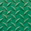 Diamond metal painted green - Stock Photo