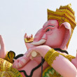 The God of wisdom and difficulty Ganesha statue — Stock Photo