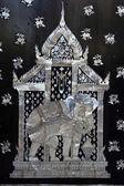 Traditional Thai style church door art — Stock Photo