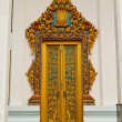 Traditional Thai style on door - Stockfoto