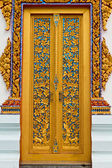 Traditional Thai style on door — Stock Photo