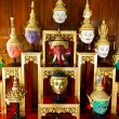 Khon Masks, Thailand - Stock Photo