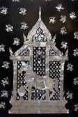 Tradiční thajské stylu dveře kostela umění — Stock fotografie