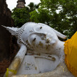 Stock Photo: Reclining of buddhin Wat Yai Chai Mongkhon