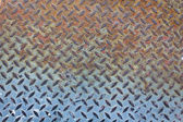 Old Metal diamond plate and rusty metal — Stock Photo