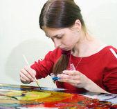 Vitrage drawing — Stock Photo