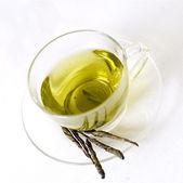 Green tea in a cup — Foto Stock
